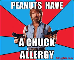 Allergy Meme - peanuts have a chuck allergy funny meme