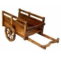 antique wooden peddlers cart vendor wagon wheel cart