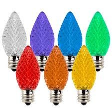 c7 led bulbs diamond faceted replacement christmas light bulbs