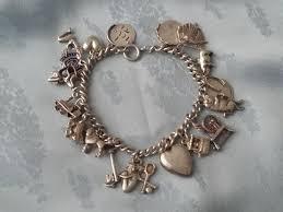 charm bracelet vintage silver images Vintage sterling silver charms bracelet with 20 charms catawiki jpg