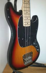 Fender Mustang Bass Black Sold Squier By Fender Vintage Modified Mustang Bass Sunburst