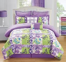 purple bedding sets for girls total fab green and purple bedding sets