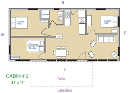 3 bedroom cabin floor plans cabin 2 kee nee moo sha on lake cass county minnesota