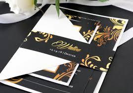 Personalized Wedding Invitations Sample Wedding Invitation Suite Black U0026 Gold Wedding Invite