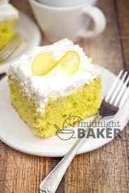 lemonade cream poke cake the midnight baker