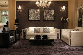 interior luxury ideas of living with crystal chandelier and wall