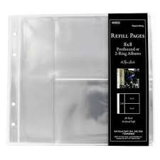 photo album refill pages post bound or 2 ring album refill pages 8 x 8 hobby lobby