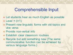 Be Like Bill The Comprehensible - maximizing comprehensible input and language use practice victor