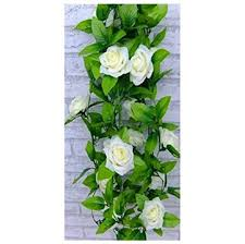 1 x artificial silk flower green leaf vine