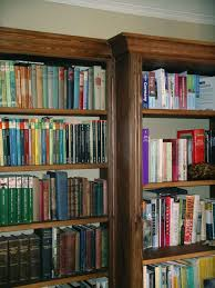 dark oak fitted bookcase by peter henderson furniture brighton uk