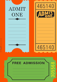 blank printable tickets attendee list template