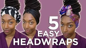 hairstyles wraps hairstyle tutorial 5 easy head wraps youtube