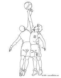 basketball players in action coloring pages hellokids com