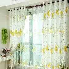 Yellow White Curtains Stunning Floral Style White And Yellow Thermal Curtains Two