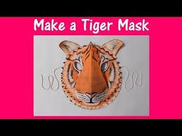 arts crafts tiger mask
