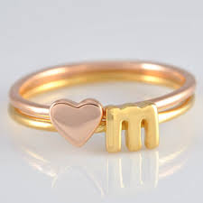 personalized ring gold initial ring alphabet ring letter ring personalized