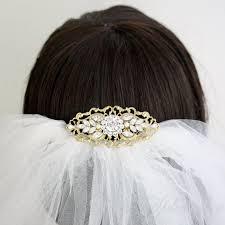 gold bridal comb art deco wedding hair accessories vintage