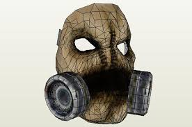 Scarecrow Mask Papermau Scarecrow Mask Papercraft In 1 1 Scale By Gankutsu O