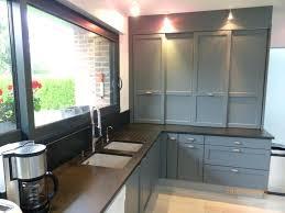 meuble de cuisine gris anthracite meuble de cuisine gris anthracite photo de plan de travail avec