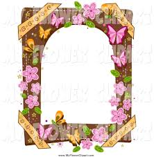 royalty free stock flower designs of frames