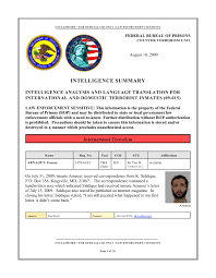 counter terrorism bureau u fouo les federal bureau of prisons counter terrorism unit inmate