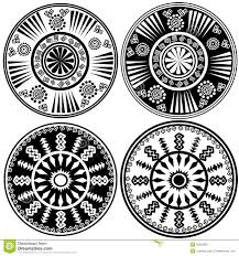 black and white ornaments in ethnic style stock photography