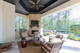 Outdoor Fireplace Houston by Covered Porch With Fireplace Patio Traditional With Outdoor