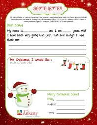 personalized letter from santa ankeny kids can get a letter from santa ankeny ia patch