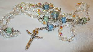 beautiful rosaries bead original i won a beautiful rosary rosaries