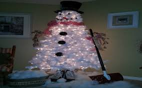 epic white snowman tree 69 with additional house interiors