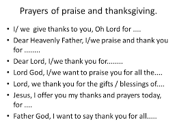 prayer starters the following slides are some sentence starters