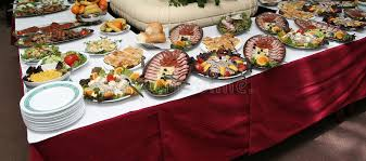 table full of food hotel table full of tasty food stock photo image of celebration
