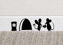 wall stickers and murals amazon co uk mouse love heart wall art sticker vinyl decal mice home skirting board funny by black country vinyls 0 84 more buying choices