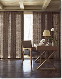 pleasant window treatments for large windows with brown streaky