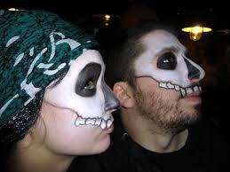 cream halloween makeup sugar skull digital imologue