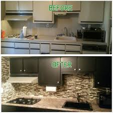 before after painted kitchen cabinets with abstract ash nuvo