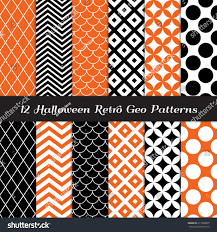 orange black halloween background halloween orange black white retro geometric stock vector