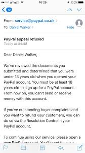 Closing A Business Email psa if you opened your paypal account before you were 18 close
