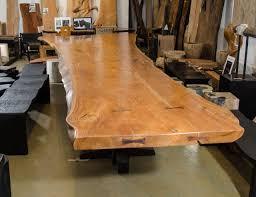 massive teak wood live edge dining table teak dining room table