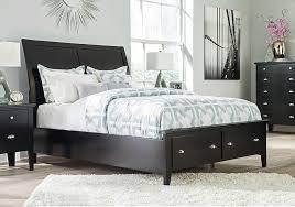Black Sleigh Bed Braflin Black King Storage Sleigh Bed