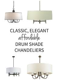 Drum Shade Chandelier Lighting Drum Shade Chandelier Sources The Chronicles Of Home