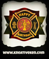 firefighter birthday card ken u0027s kreations