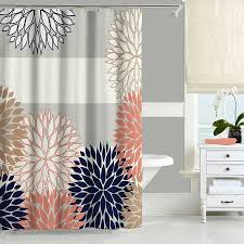 Better Homes Shower Curtains by Navy And Coral Curtains 59 Awesome Exterior With Better Homes And