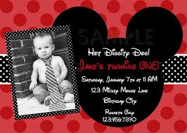 1st Birthday Card Invitation Mickey Mouse Birthday Invitations Mickey Mouse 1st Birthday