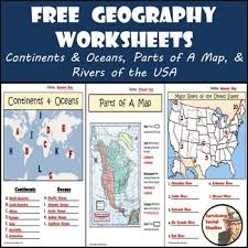 map usa oceans free geography worksheets continents oceans usa rivers parts