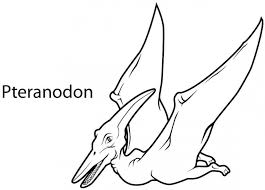 dinosaurs coloring pages ptereodactyl coloring