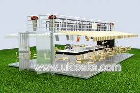 unique 3d max design container coffee shop with ce approved mall