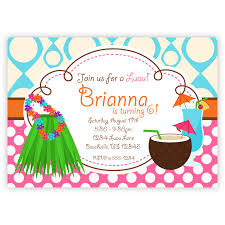 Bday Invitation Cards For Kids Luau Birthday Party Invitations Marialonghi Com