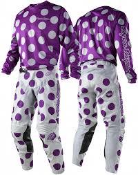 purple motocross helmet 2018 troy lee designs polka dot purple grey tld mx gp motocross
