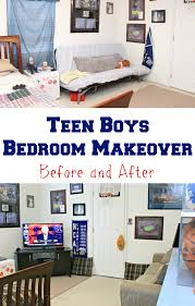 Bedroom Before And After Makeover - cam u0027s teen boys bedroom hangout room makeover mom 4 real